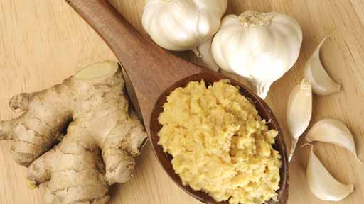 чеснок и молоко и имбирь